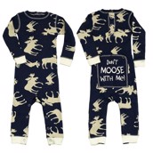 LazyOne Boys Classic Moose Blue Flapjack Infant