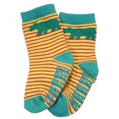 LazyOne Girls Bear Stripe Infant Socks