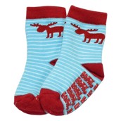 LazyOne Boys Moose Stripe Infant Socks