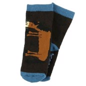 LazyOne Boys Pasture Bedtime Infant Socks