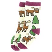 LazyOne Girls Moose Hug Infant Socks