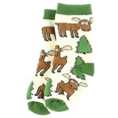 LazyOne Boys Moose Hug Infant Socks