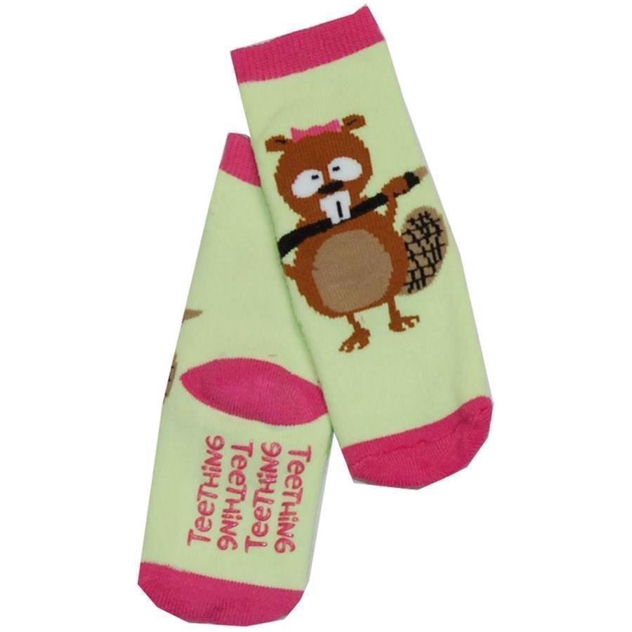 LazyOne Girls Teething Infant Socks