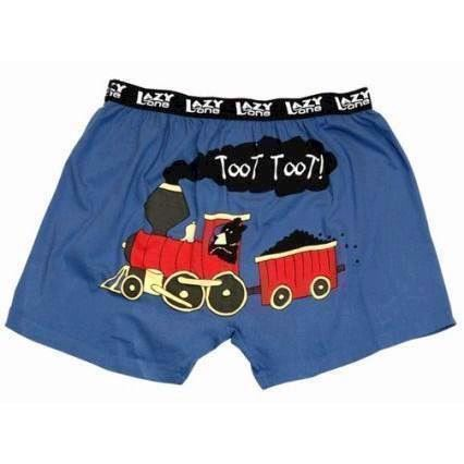 Toot Toot Boxer Shorts, Child Large