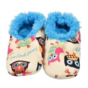 LazyOne Im Owl Yours Kids Fuzzy Feet Slippers