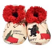 LazyOne Happy Camper Kids Fuzzy Feet Slippers