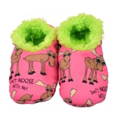 LazyOne Dont Moose With Me Kids Fuzzy Feet Slippers