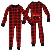 LazyOne Plaid Bear Cheeks Kids Flapjack