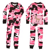 LazyOne Girls Camo Deer Flapjack Infant