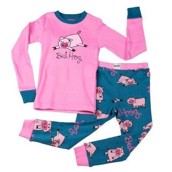 LazyOne Girls Bed Hog Kids PJ Set Long Sleeve