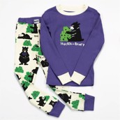 LazyOne Unisex Huckle-Beary Kids PJ Set Long Sleeve