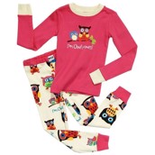 LazyOne Girls I'm Owl Yours Kids PJ Set Long Sleeve