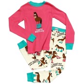 LazyOne Girls Booty Sleep Kids PJ Set Long Sleeve