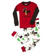 LazyOne Unisex Moosletoe Kids PJ Set Long Sleeve