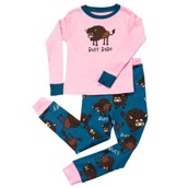 LazyOne Girls Buff Babe Kids PJ Set Long Sleeve