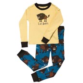 LazyOne Boys Buffs Kids PJ Set Long Sleeve