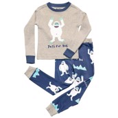 LazyOne Boys Yeti For Bed Kids PJ Set Long Sleeve