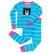 LazyOne Girls Bearly Tame Kids PJ Set Long Sleeve