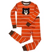 LazyOne Boys Bearly Tame Kids PJ Set Long Sleeve