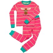 LazyOne Girls Moosely Wild Kids PJ Set Long Sleeve