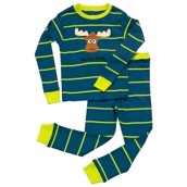 LazyOne Boys Moosely Wild Kids PJ Set Long Sleeve