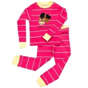 LazyOne Girls Horsin Around Kids PJ Set Long Sleeve