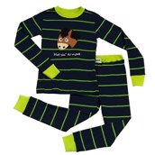 LazyOne Boys Horsin Around Kids PJ Set Long Sleeve