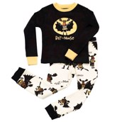 LazyOne Boys Bat Moose Kids PJ Set Long Sleeve