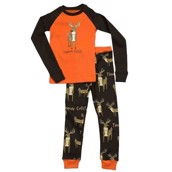 LazyOne Boys Trophy Child Kids PJ Set Long Sleeve
