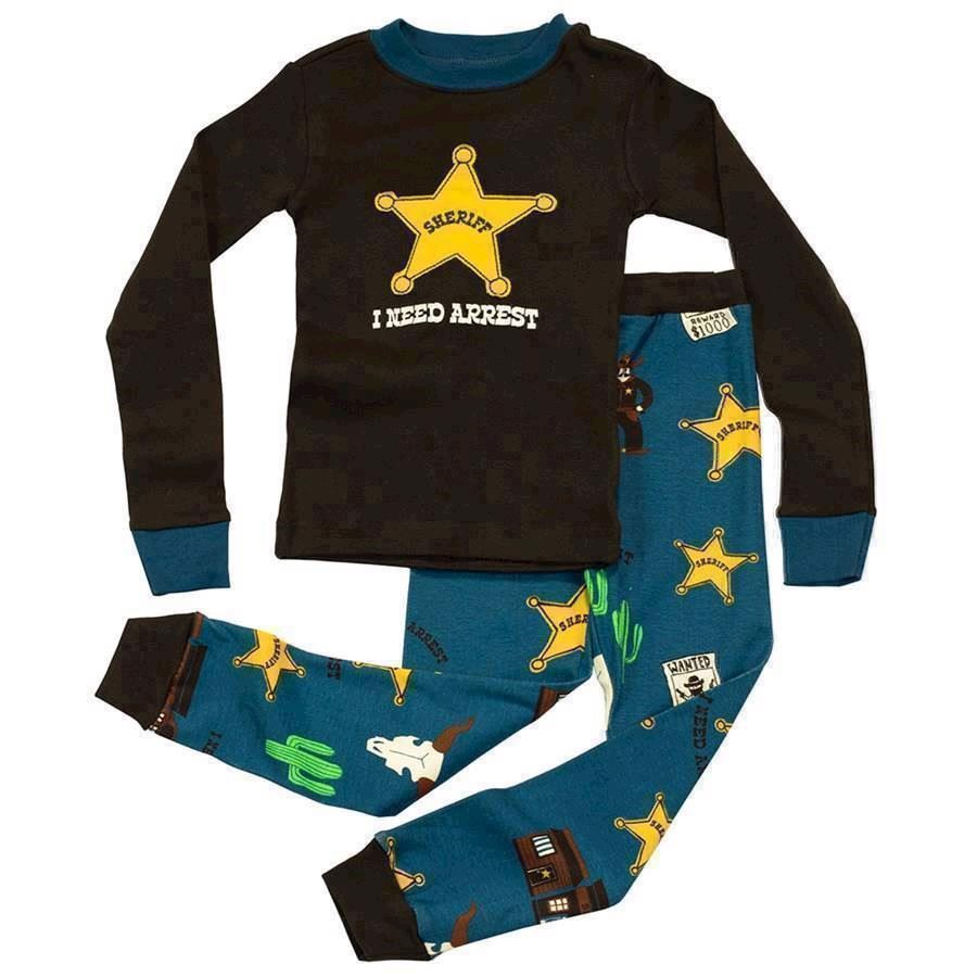LazyOne Boys I Need Arrest Kids PJ Set Long Sleeve