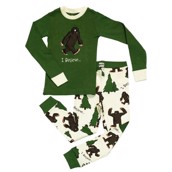 LazyOne Boys I Believe Bigfoot Kids PJ Set Long Sleeve