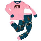 LazyOne Girls Pasture Bedtime Kids PJ Set Long Sleeve
