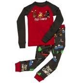 LazyOne Boys Happy Camper Kids PJ Set Long Sleeve