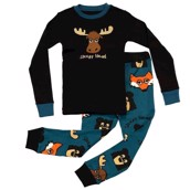 LazyOne Boys Sleepy Head Kids PJ Set Long Sleeve