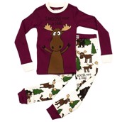 LazyOne Girls I Moose Have a Hug Kids PJ Set Long Sleeve