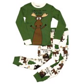 LazyOne Boys I Moose Have a Hug Kids PJ Set Long Sleeve