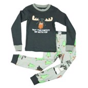 LazyOne Boys May The Forest Be With You Kids PJ Set Long Sleeve