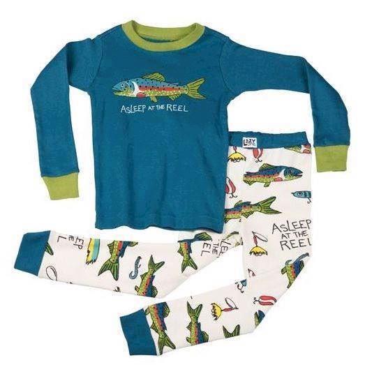 Billede af LazyOne, Asleep At The Reel Long Sleeve Pyjamas Set, Child 6 years