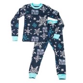LazyOne Unisex Falling To Sleep Kids Thermal PJ Set Long Sleeve