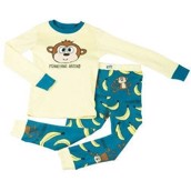 LazyOne Unisex Monkeying Around Kids PJ Set Long Sleeve