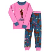 LazyOne girl I Moose have a Kiss Kids PJ Set Long Sleeve