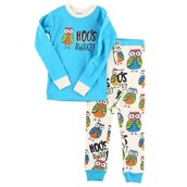 LazyOne Unisex Hoos Awake Kids PJ Set Long Sleeve