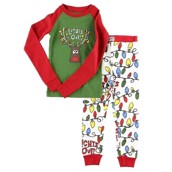 LazyOne Unisex Lights Out Kids PJ Set Long Sleeve