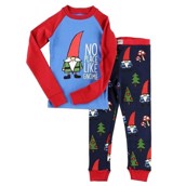LazyOne Unisex No place lige Gnome Kids PJ Set Long Sleeve