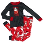 LazyOne Boys Unstable in the Morning Kids PJ Set Long Sleeve