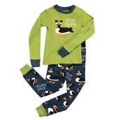 LazyOne Boys Stud Puffin Kids PJ Set Long Sleeve