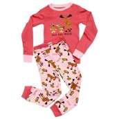 LazyOne Girls Duck Duck Moose Kids PJ Set Long Sleeve