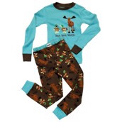 LazyOne Boys Duck Duck Moose Kids PJ Set Long Sleeve