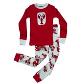 LazyOne Unisex Lobster Kids PJ Set Long Sleeve
