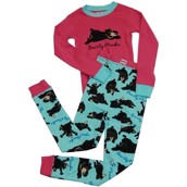 LazyOne Girls Bearly Awake Kids PJ Set Long Sleeve